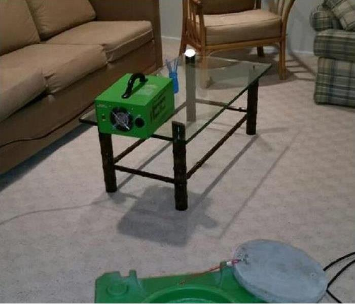 SERVPRO odor removal equipment